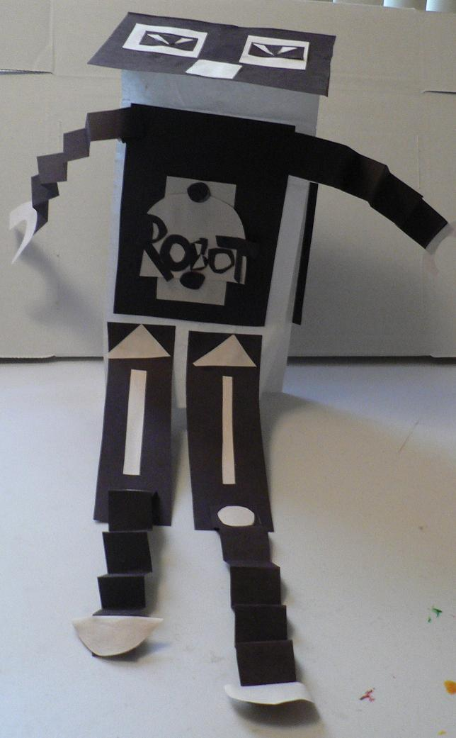 Construction Paper Robot Construction Paper And One